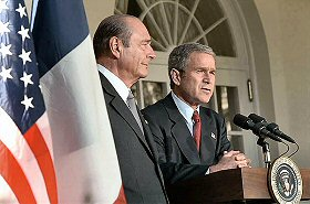 Jacques Chirac, George Bush